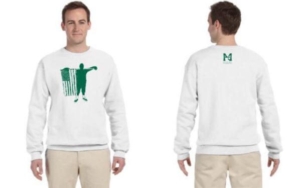 white crew neck sweatshirt nmh foundation